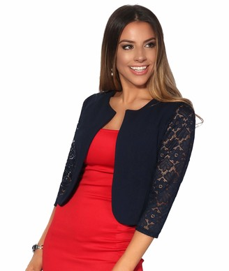 KRISP Lace Sleeve Evening Bolero Shrug