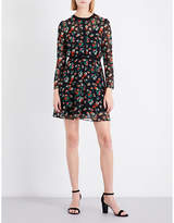 Maje Rayon floral chiffon dress