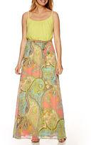 Robbie Bee Sleeveless Paisley Print Maxi Dress