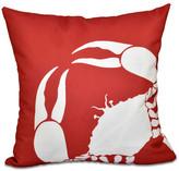 "Crab Dip, Animal Print Pillow, Coral, 26""x26"""