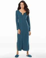 Soma Intimates Long Zip Cashmere Robe Teal