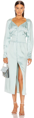 Jonathan Simkhai Seraphina Fluid Satin Dress in Seafoam | FWRD