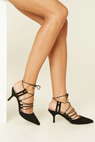 Forever 21 FOREVER 21+ Strappy Faux Suede Pumps