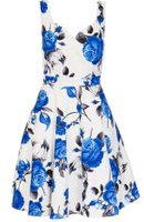 Dorothy Perkins Womens *Quiz Cream Floral Satin Dress- Cream