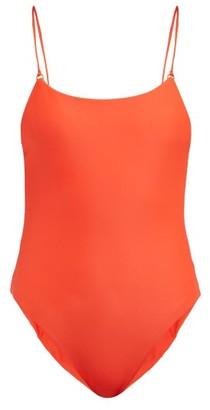 JADE SWIM Hinge Low-back Swimsuit - Womens - Red