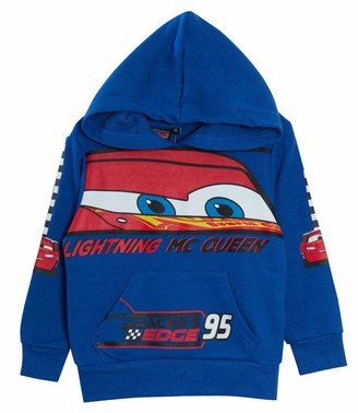 Disney Boys Cars Hoodie Hooded Jumper Blue 8 Years