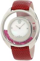 Versace Women's 86Q971MD497 S800 Destiny Precious Mother-of-Pearl Stainless Steel Red Watch