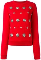Versus lion studded sweatshirt - women - Cotton - XS
