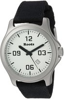 Roots Men's 'Core' Quartz Stainless Steel and Canvas Casual Watch, Color:Black (Model: 1R-LF400WH6B)