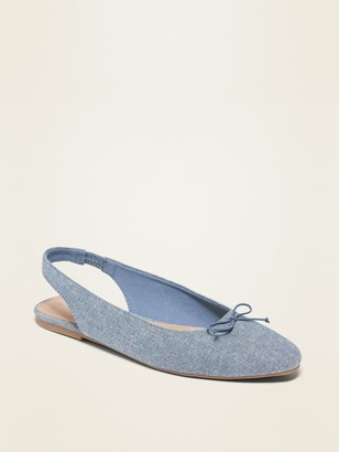 Old Navy Chambray Slingback Flats for Women