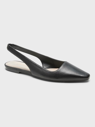 Banana Republic Leather Slingback Flat