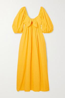 Mara Hoffman Net Sustain Violet Organic Cotton And Organic Linen-blend Maxi Dress - Yellow