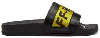 Off-White SSENSE Exclusive Black Industrial Pool Slides