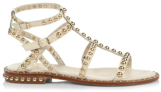 Ash Precious Studded Leather Gladiator Sandals