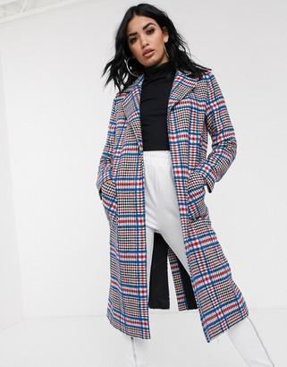 Helene Berman Ruth long check coat