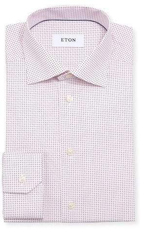 Eton Micro Star Cotton Dress Shirt
