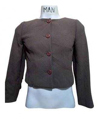Balenciaga Brown Cotton Coats