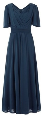 Dorothy Perkins Womens Jolie Moi Blue Flute Sleeve Maxi Dress, Blue