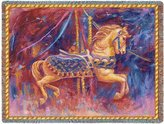 Carousel Horse Blanket Throw - 54 x 70 USA Made by Pure Country Weavers
