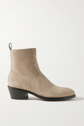 Jimmy Choo + Kaia Gerber 40 Suede Ankle Boots - Gray