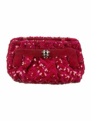 Marc Jacobs Sequin Embellished Crossbody Bag Red