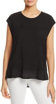 Two by VINCE CAMUTO Mixed Media Tee