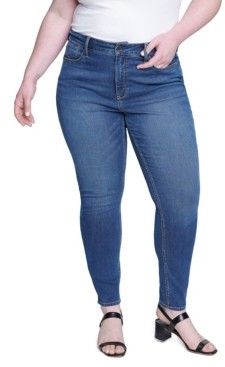 Seven7 Jeans Women's Plus Size Textured Skinny High-rise Jean