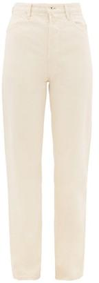 Jil Sander High-rise Straight-leg Jeans - Ivory
