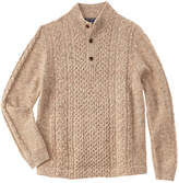 Brooks Brothers Boys' Beige Wool-Blend Sweater
