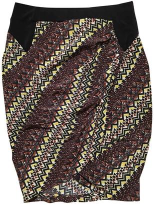 April May Black Silk Skirt for Women