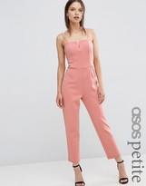 Asos Jumpsuit in Scuba with Cut Away Front