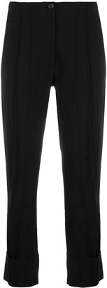 Ann Demeulemeester Subtle-Pleat Cropped Trousers