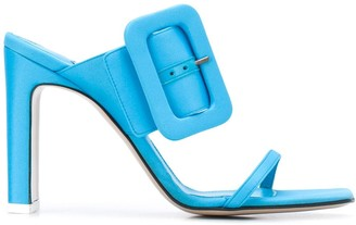 ATTICO Buckled High-Heel Mules