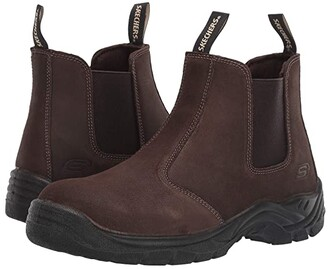 Skechers Tapter Steel Toe (Black) Men's Shoes