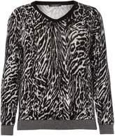 Marina Rinaldi Anguria long sleeve zebra knit v neck