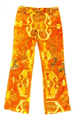 Christian Dior Orange Cotton - elasthane Jeans