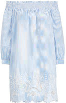 Polo Ralph Lauren Striped Off-The-Shoulder Dress