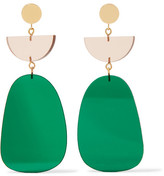 Isabel Marant Gold-tone Acrylic Earrings - Green