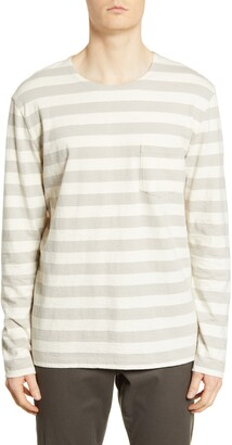 BLDWN Ayden Stripe Slim Fit Long Sleeve T-Shirt