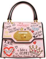 Dolce & Gabbana Small Welcome Graffiti Leather Bag