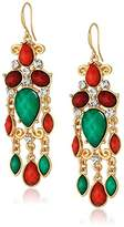 Amrita Singh Hampton Turquoise/Coral Dazzle Drop Earrings