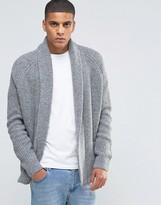 Asos Open Shawl Cardi in Wool Mix