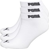 Puma Mens Three Pack Quarter Socks White