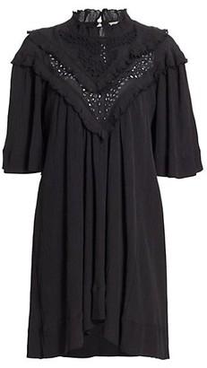 Etoile Isabel Marant Inalio Ruffle Trim Shift Dress