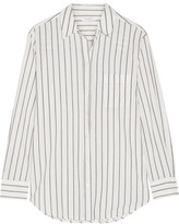 Equipment Kenton Striped Cotton-poplin Shirt - White