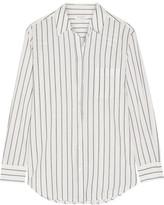 Equipment Kenton Striped Cotton-poplin Shirt - White