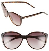 Marc Jacobs Women's 58Mm Polarized Butterfly Sunglasses - Dark Havana