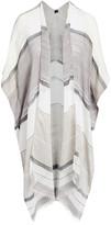 Lvs Collections LVS Collections Women's Kimono Cardigans GRAY - Gray & White Color Block Kimono - Women