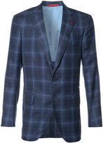 Isaia checked blazer - men - Silk/Linen/Flax/Cupro/Wool - 50
