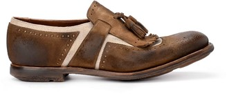 Church's Churchs Shanghai Brown Suede And Linen Loafer